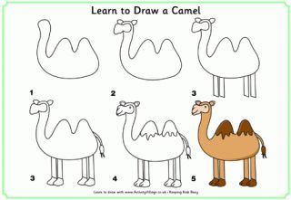How to Draw - Templates for sponsor children who like to draw!