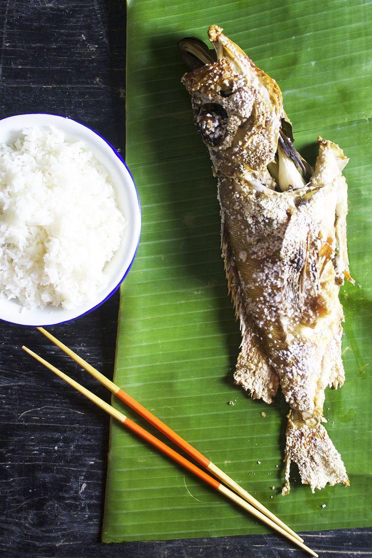 Hel rødfisk, thaistyle // Grilled red fish thaistyle
