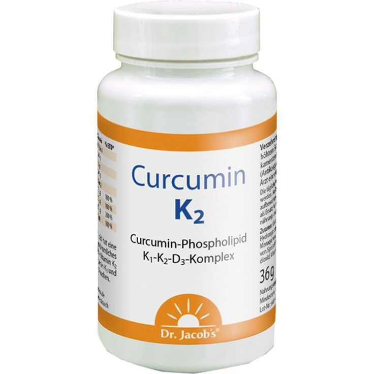 CURCUMIN K2 Dr.Jacobs Kapseln:   Packungsinhalt: 60 St Kapseln PZN: 02647384 Hersteller: Dr.Jacobs Medical GmbH Preis: 24,89 EUR inkl. 7…