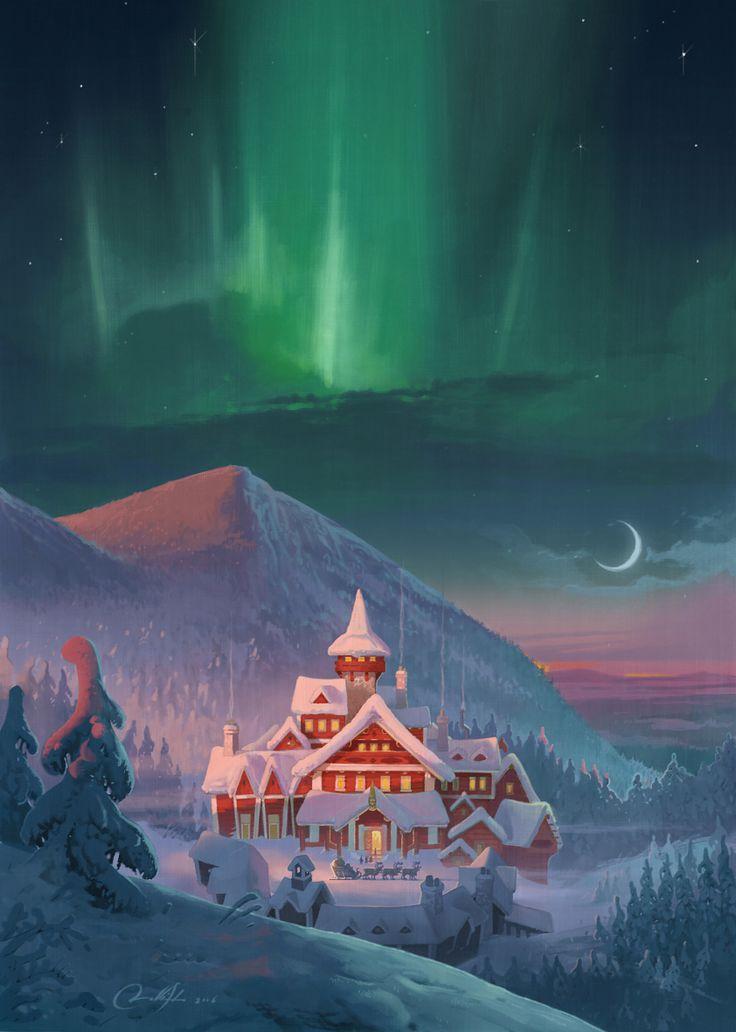 Northern lights  from Santa land