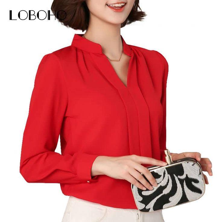 Chiffon Blouse Long Sleeve //Price: $13.95 & FREE Shipping //     #stylish