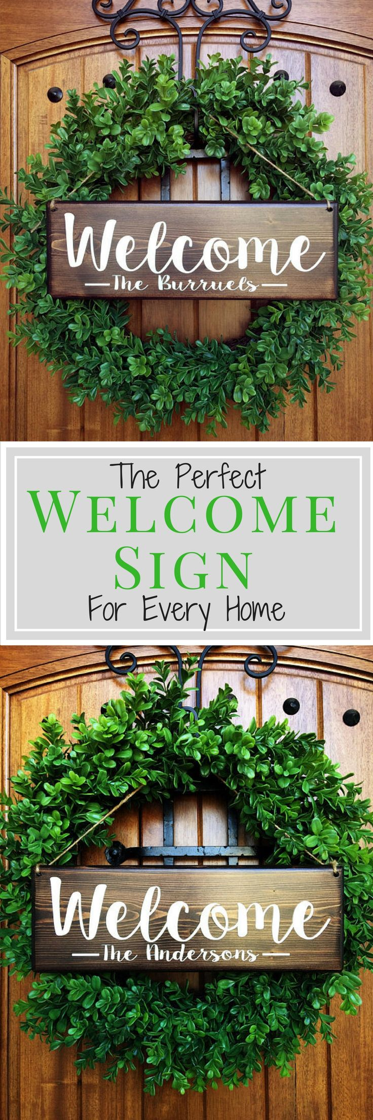 Best 25 front door signs ideas on pinterest barn board signs welcome sign welcome door sign personalized sign family name sign front door rubansaba
