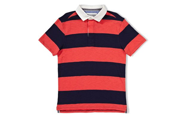 Wide stripe rugby shirt from Sainsburys