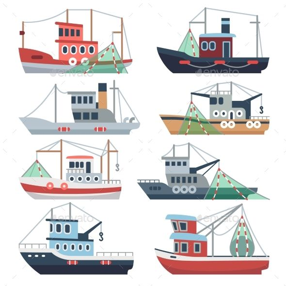 Fishing Ocean Boats With Images Boat Illustration Ocean