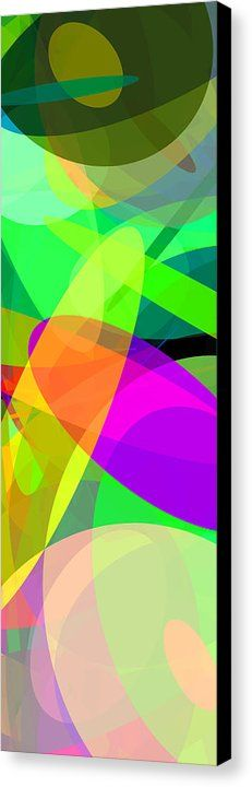 Ellipses 5 Canvas Print by Chris Butler.  #art #abstract #artdeco #design #interior #home #Decor #wall #modern #contemporary #homedecor #abstractart #interiordesign #simple #canvas #print #geometric #abstracts #colorful #vibrant #vivid #ellipse #ellipses #ovals #circles