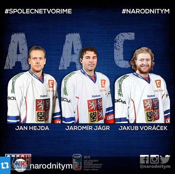 Jaromir Jagr was named Assistant Captain for Team Czech Republic for the 2015 IIHF World Championship.