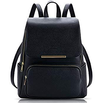 2338720d4f9b COOFIT Black Leather Backpack Casual Daypack Backpack Purse for Women  Backpack Purses