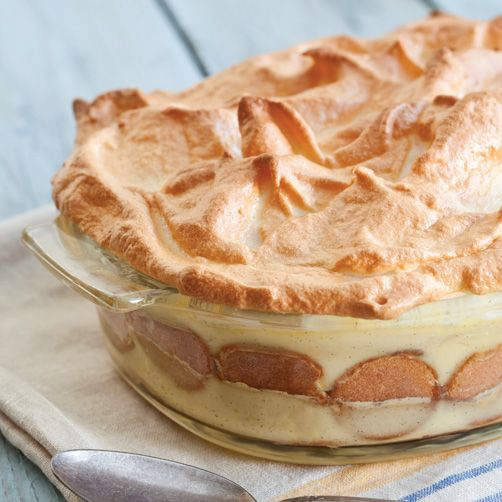 Bananas cooked in butter and brown sugar and layered with vanilla wafers and vanilla pastry cream give a new twist to this old Southern favorite.