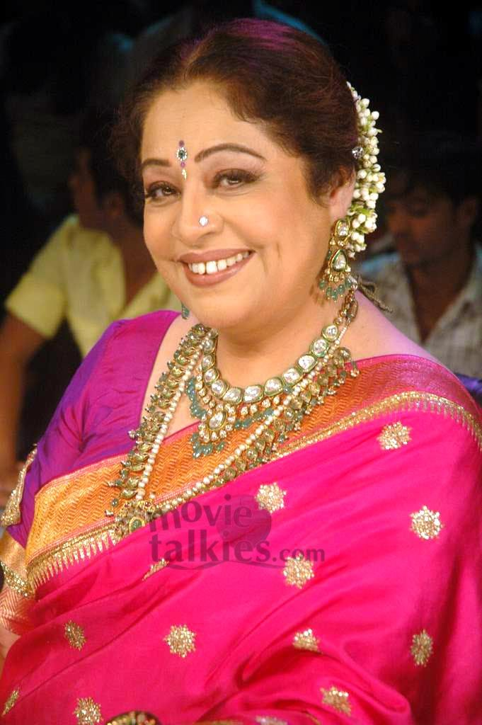 Kiron Kher endorsing my belief that bright colour suits her personality more. Description by Pinner Mahua Roy Chowdhury.