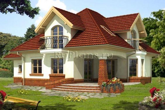 Элегантный дом с мансардой и гаражом R1462