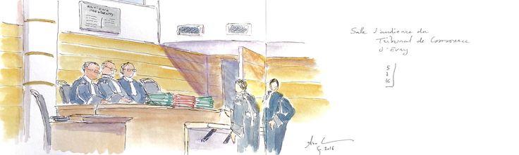 https://flic.kr/p/JV1z8e | Tribunal de commerce d'Evry | Encre et aquarelle sur Moleskine A5