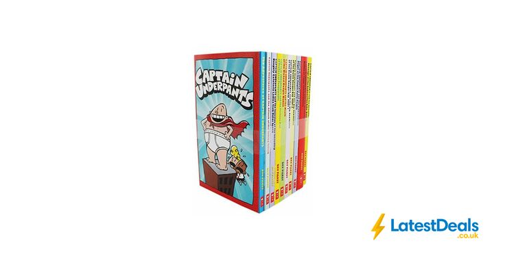 Captain Underpants Book Set - 10 Books Save £54.90 Free C&C, £15 at The Works