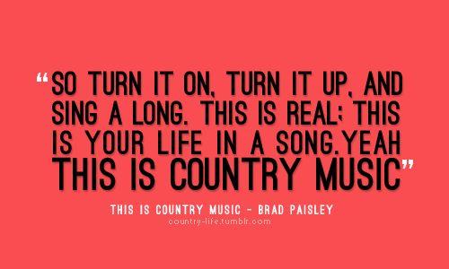 Country music lyrics quote