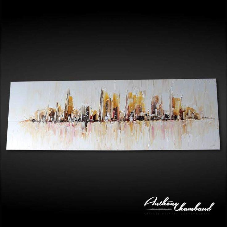 17 best ideas about peinture abstraite moderne on pinterest art moderne tr - Tableau new york castorama ...