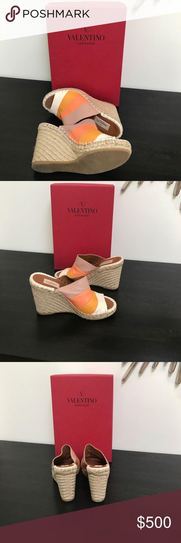 Worn once Valentino wedge sandals Stunning Worn once Valentino wedge sandals Valentino Shoes Wedges