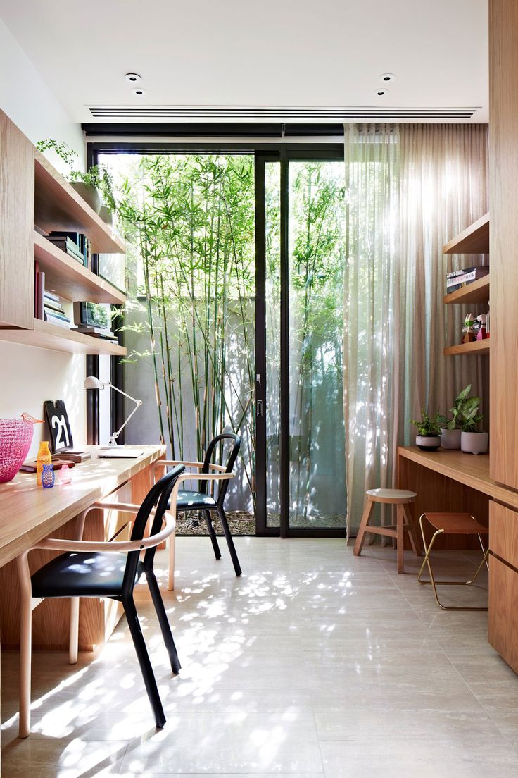Oban House is a modern property with natural and organic material pallet by  building company AGUSHI & Workroom Design in South Yarra, Melbourne,  Australia.