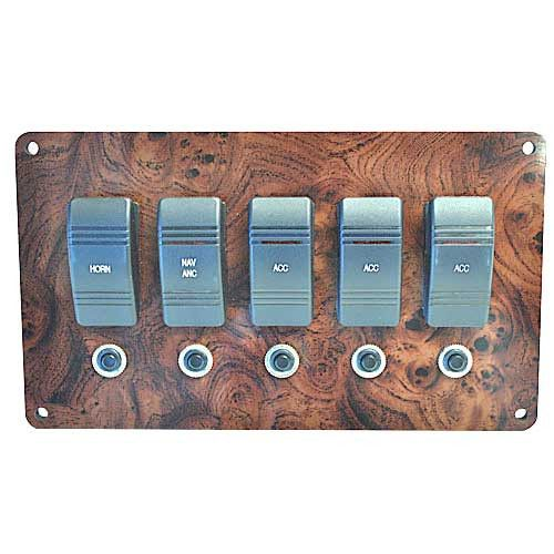 5 switch panel for pontoon boats