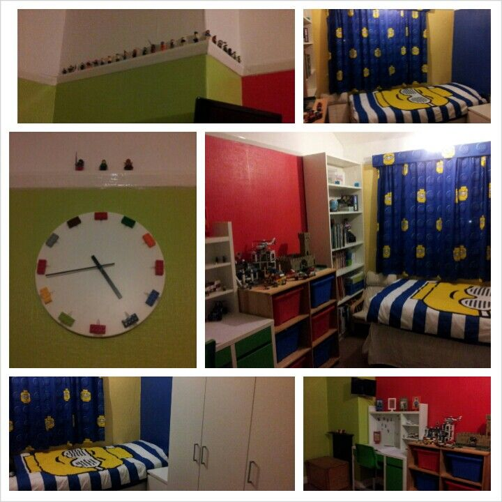 cute ideas love the clock pinner says my sons lego bedroom lego boys roomskid - Boys Room Lego Ideas