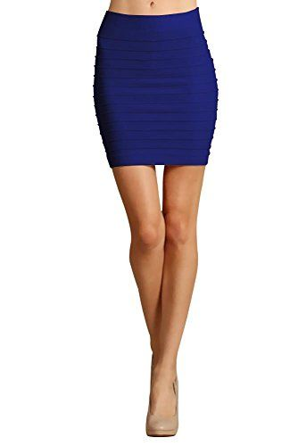 Women Seamless Bandage Bodycon Mini Knit Basic Stretch Short Pencil Skirt Royal Blue One SizeOne SizeRoyal Blue Keep these mini skirts close because you need them! Our mini skirts for women are for those that are looking for the right day to night skirt. It gives you enough comfort as you go about your day, combined with sexy style so you look fashionable too. It is the perfect bodycon skirt to wear nightime as well. This stretch pencil skirt combines style and comfort in one short ..