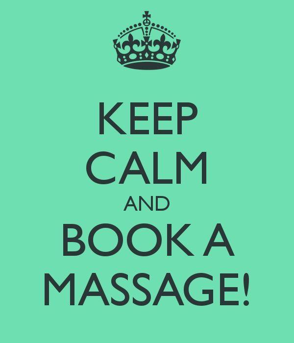 Keep calm and book a massage
