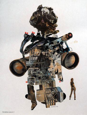 Manzak - The Bachelor Machine, Warren Chalk and Ron Herron, Archigram 1969.