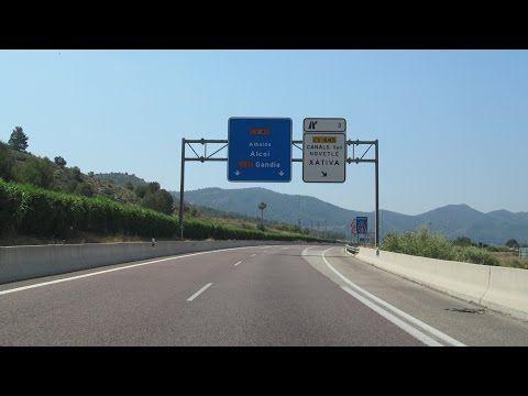 Spain: CV-40 Xàtiva - Alcoi (Valencia province) - YouTube