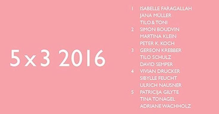 """Vom 23.9. - 27.11.2016 im KUNSTRAUM Düsseldorf: """"5 X 3 2016"""". 5 Gastkuratoren setzen je 3 Künstler zusammen in Szene. Viel Spaß!  #Kunstraum #Düsseldorf #5x3 #Gastkuratoren #Ausstellung #welovesrt #artindüsseldorf"""