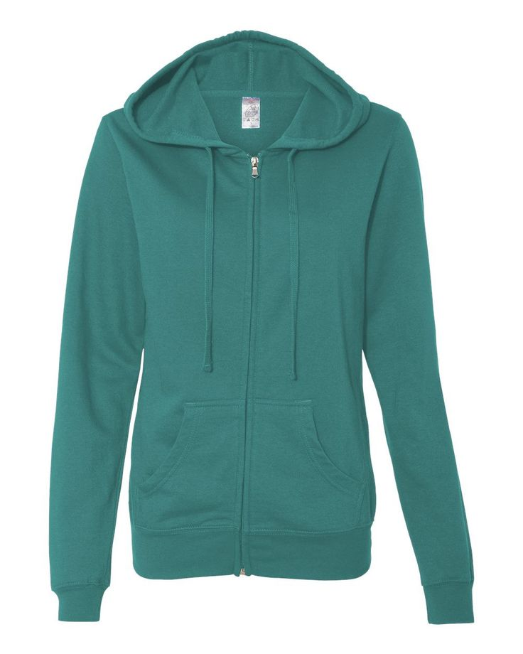 Independent Trading Co. - Junior's Standard Supply Full-Zip Hood - SS650Z Teal