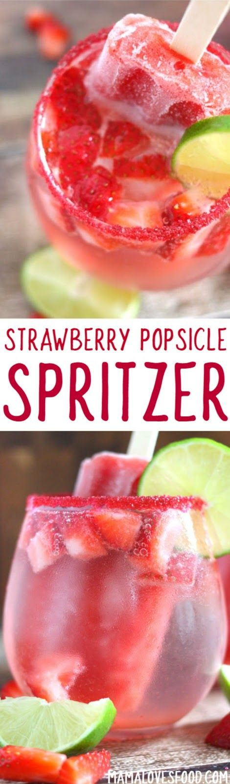 came out awesome!!! -  Strawberry Lime Popsicle Spritzer Mocktail Cocktail Recipe