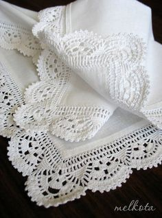 Delicadezas en crochet Gabriela: Bordes de puntillas para tela