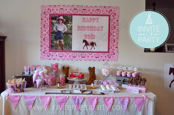 Invite Me To Party: Cowgirl Party / Cowboy Party / Western Party