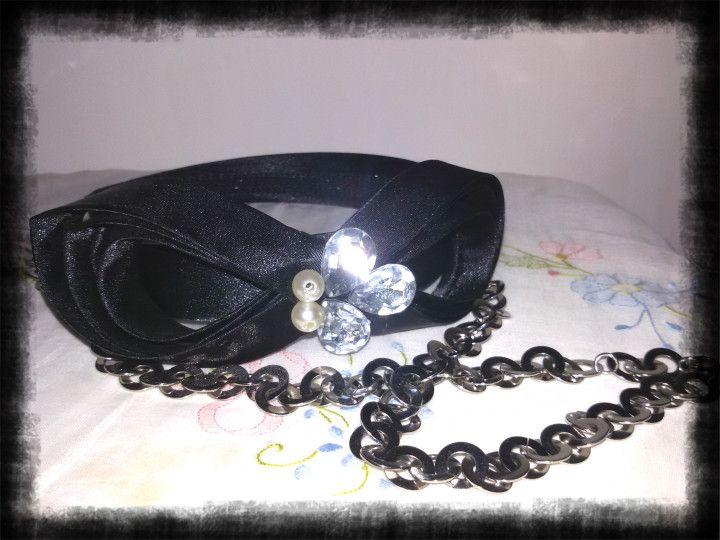 Cerchietto raso nero Janeke - Cerchietto capelli
