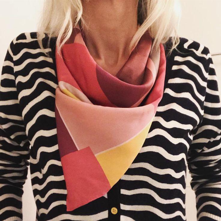 Silk Square Scarf - Palisades Pink 2 by VIDA VIDA a1MthMY2j
