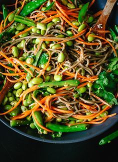 Roasted Snap Peas And Soba Noodles With Honey Soy Dressing Recipes ...