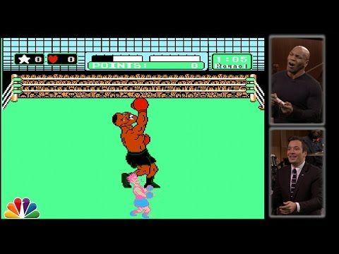 Boxing icon, Mike Tyson fights Mike Tyson in 'Mike Tyson's Punch Out!!'   Plugged In - Yahoo Games. martial arts, mma, and combat sports humor.