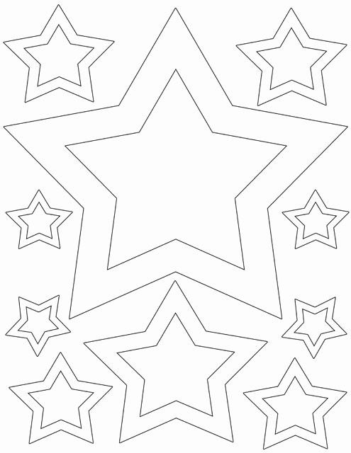 White Star Wall Stickers