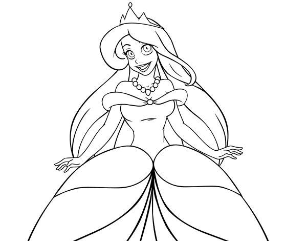 Disegno di Principessa Ariele da colorare, stampare o scaricare. Colora online con un gioco da colorare disegni di Racconti e leggende e potrei dividi e creare la tua propria galleria di disegni online.