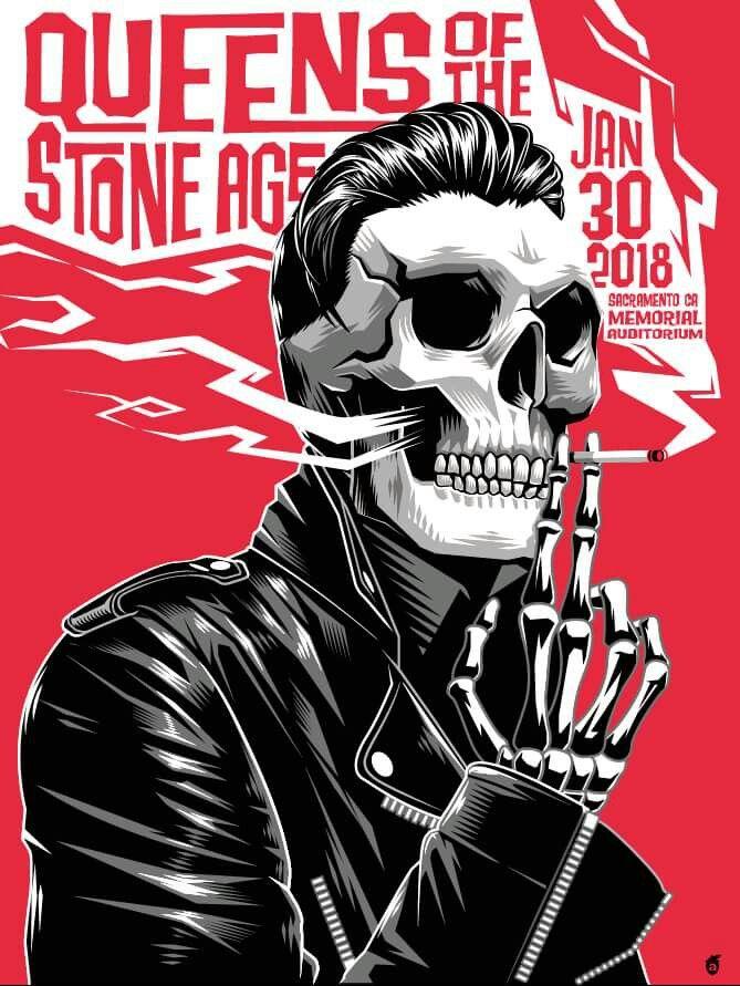 QOTSA tour poster for Sacramento!