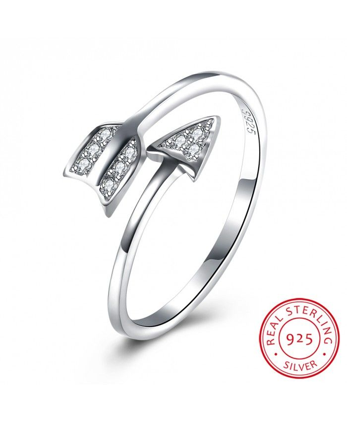 925 Sterling Silver Arrow Ring Free To Get 100% Real 925 Sterling Silver Rings! More related products reached its lowest discount! Top Quality Silver Rings, hot sale Gorgeous Engagement Rings and special Jewelry Rings of different materials for you! Don't miss it!