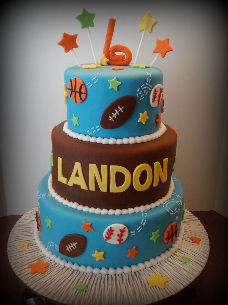 Denleys Cakes And Cookies Sports Theme Cake more at Recipins.com
