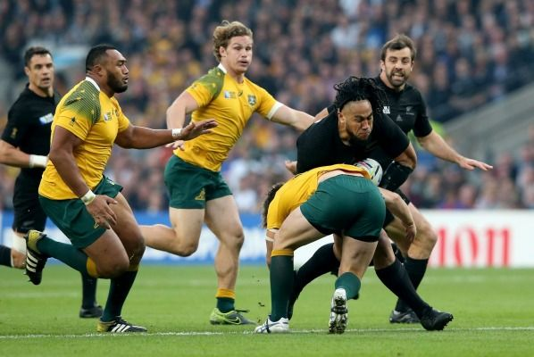 On the rampage: All Blacks centre Ma'a Nonu.