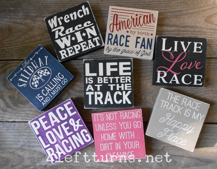 These designs are painted on a 4 x 4-inch wood sign board. The pieces are approximately 3/4-inch thick and come ready to hang with a saw tooth hanger. They will also stand on their own. We make each o