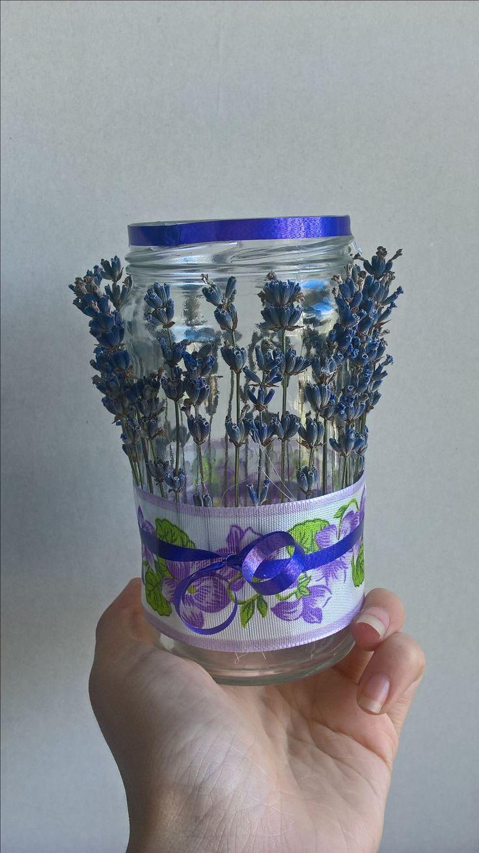 DIY Lavender candle holder