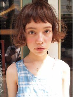 ナヌーク シブヤ(nanuk shibuya) 【nanuk】眉上ショートバング×くせ毛風カール×外国人風☆