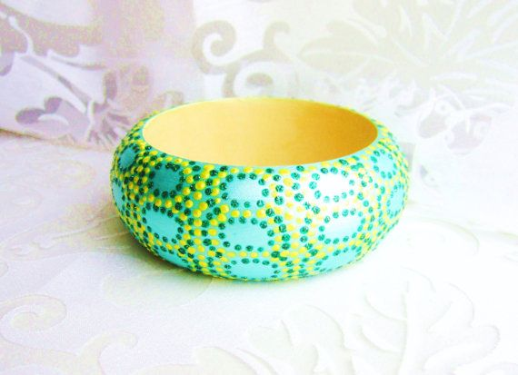 Wooden original animal snake skin print bracelethand by GattyGatty, $22.00