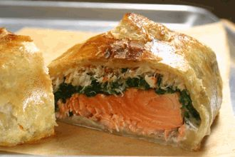 Salmon Wellington with Spinach & Dungeness Crab RECIPE      http://www.seattlefishcompany.com/recipe/salmon-wellington-with-spinach-and-dungeness-crab/500a286aba5f1044791b.html