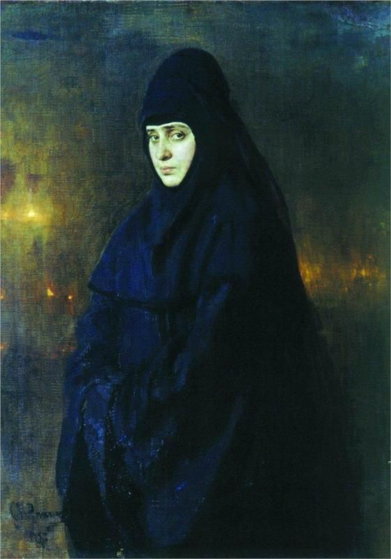 Nun, 1887  Ilya #Repin #russian #painter
