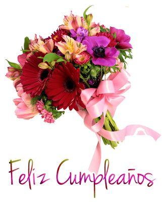 BANCO DE IMAGENES: 7 postales de cumpleaños con mensajes y flores
