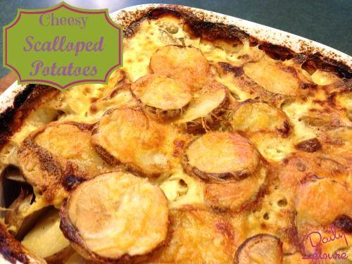 Homemade Cheesy Scalloped Potatoes Recipe