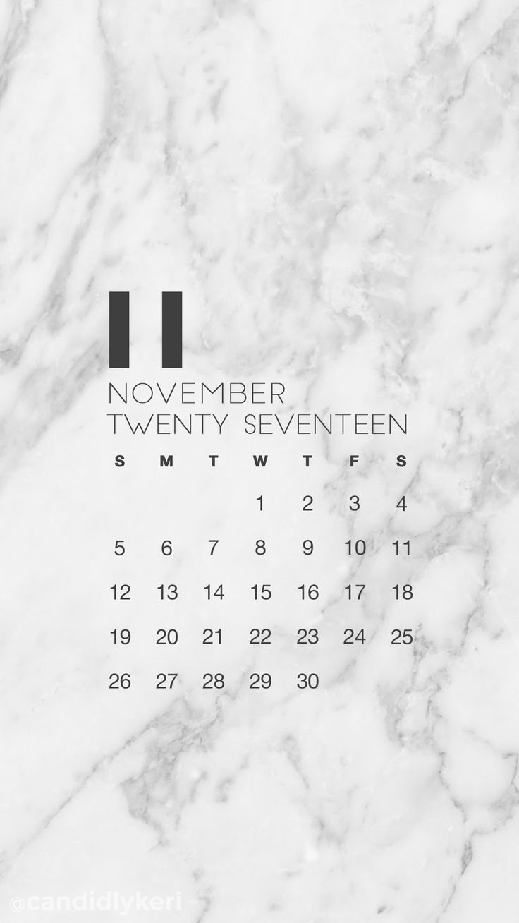 Marble November calendar 2017 wallpaper you can download on the blog! For any device; mobile, desktop, iphone, android!